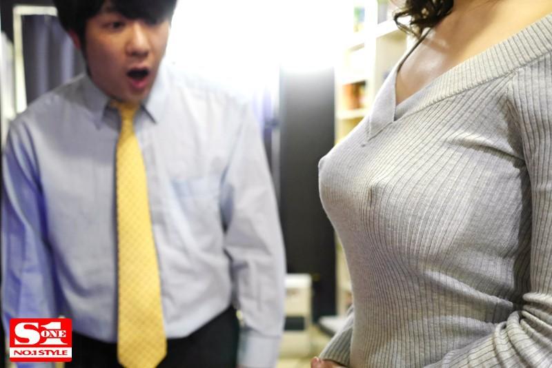 SNIS-930 ノーブラ透け乳首でこっそりOKサインを出して誘惑してくるむっつり巨乳お姉さま 葵